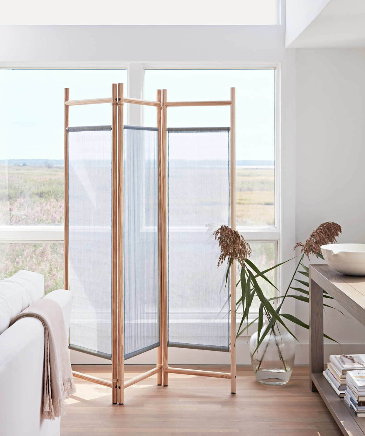 sheer screen partition