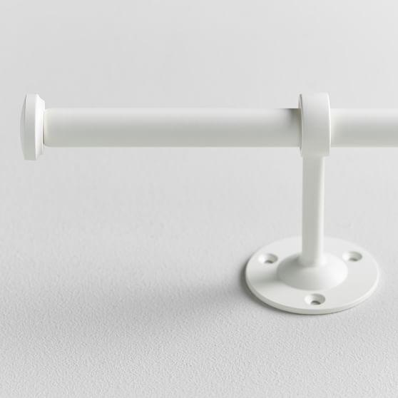 Pottery Barn Teen Classic Steel Curtain Rod in White