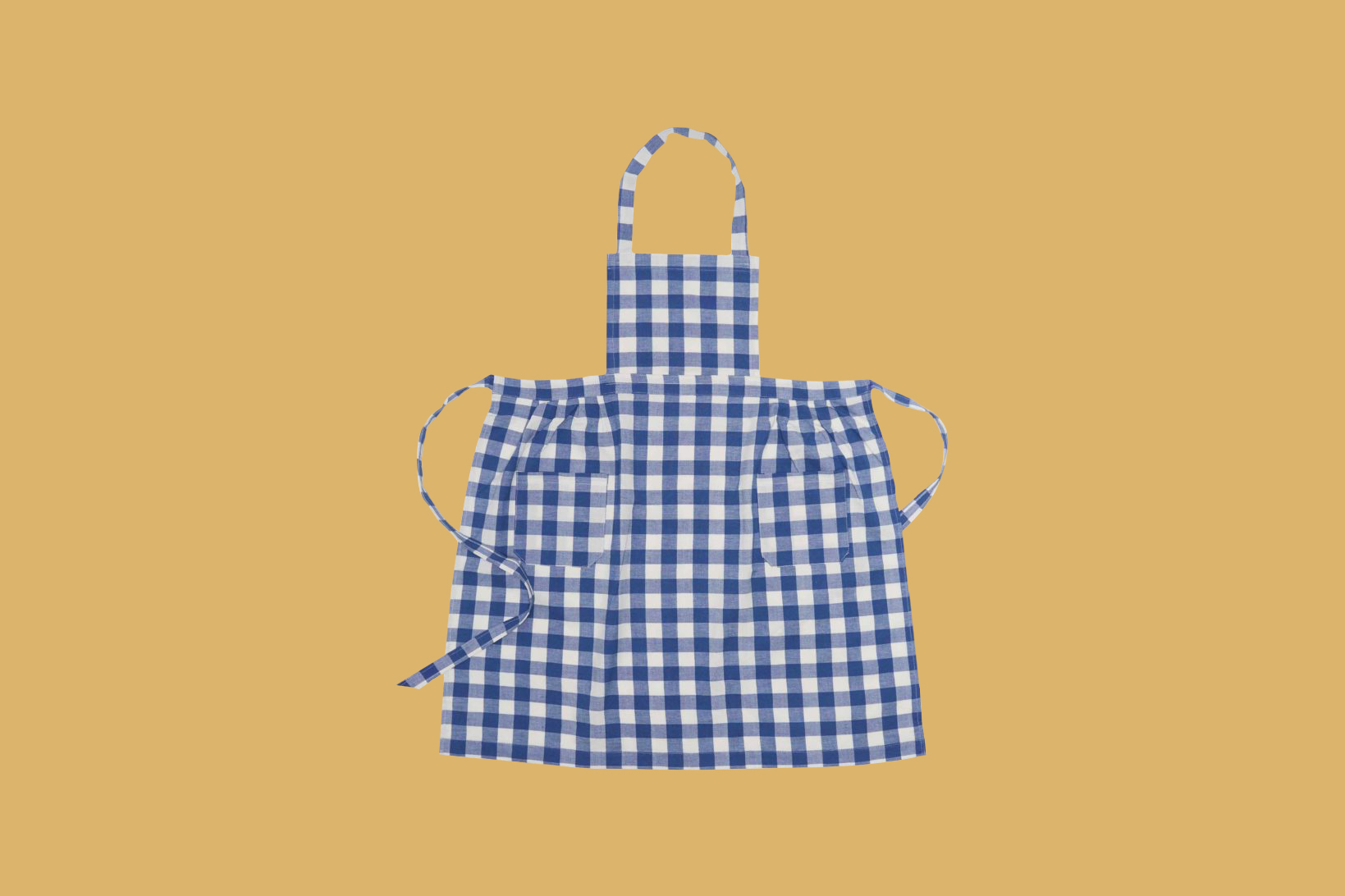 Heather Taylor Home Gingham Denim Apron
