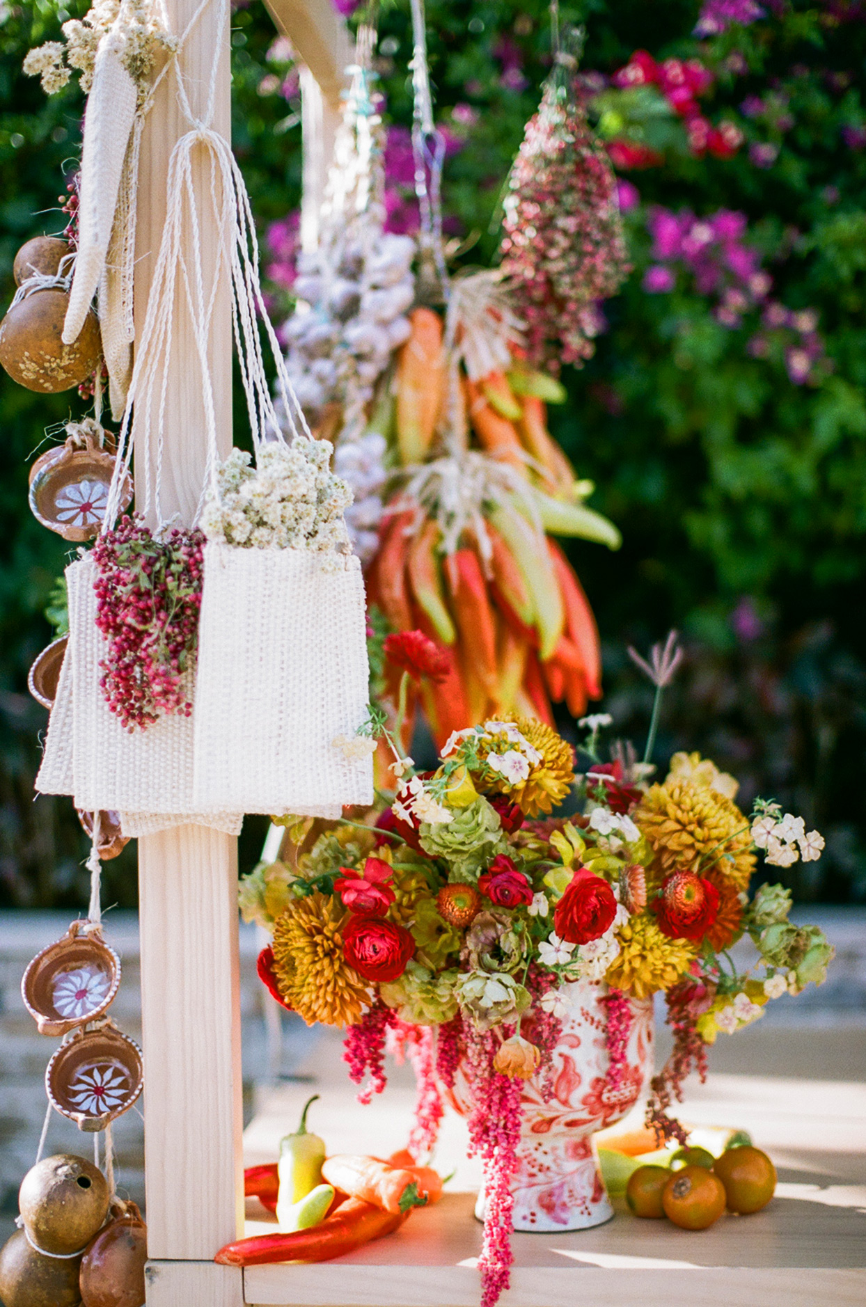 welcome party floral decor