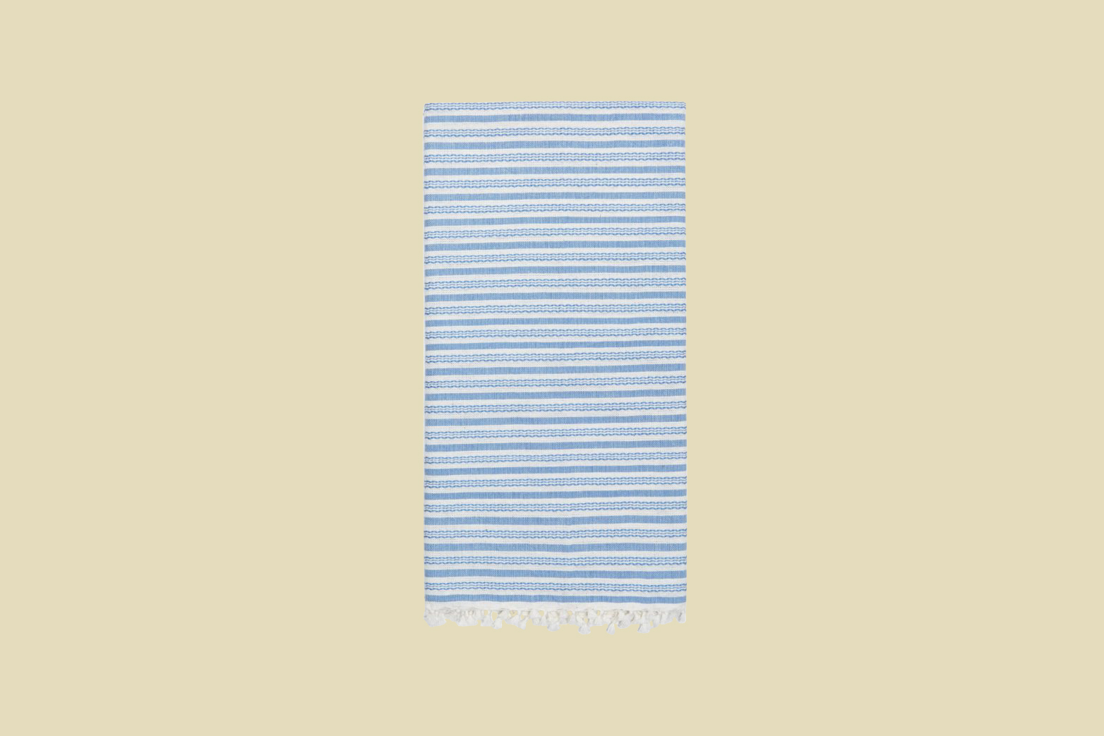 heather taylor home canyon stripe blue tea towel