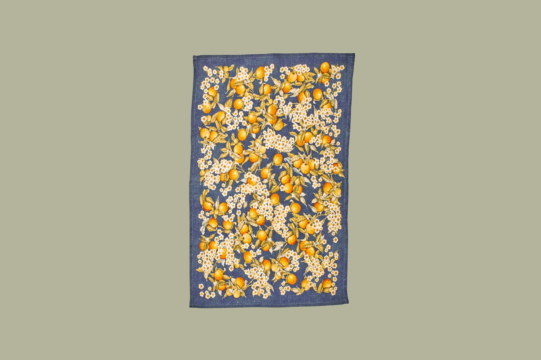 sur la table orange blossoms linen kitchen towel