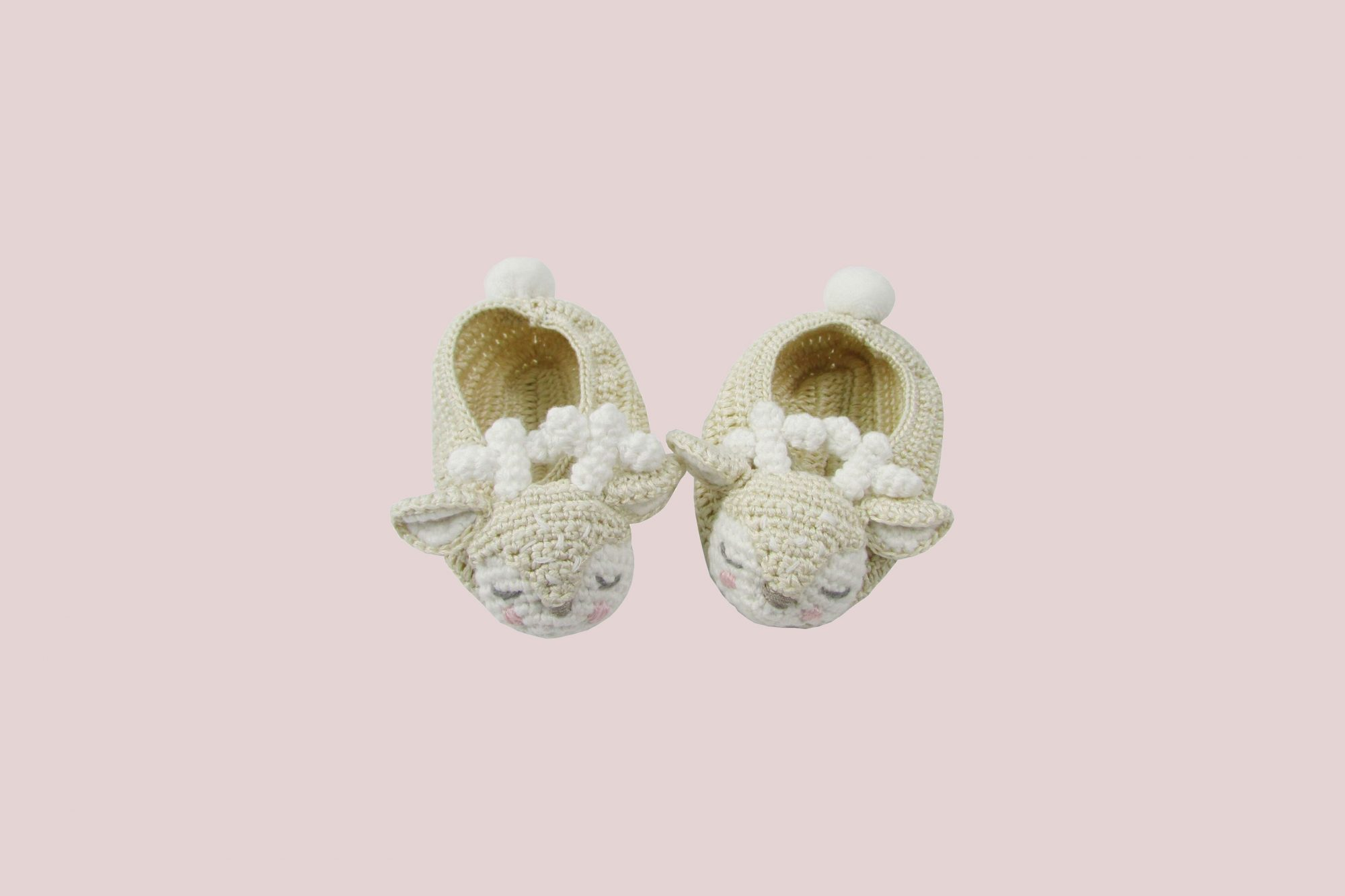 Albetta Crochet Deer Booties