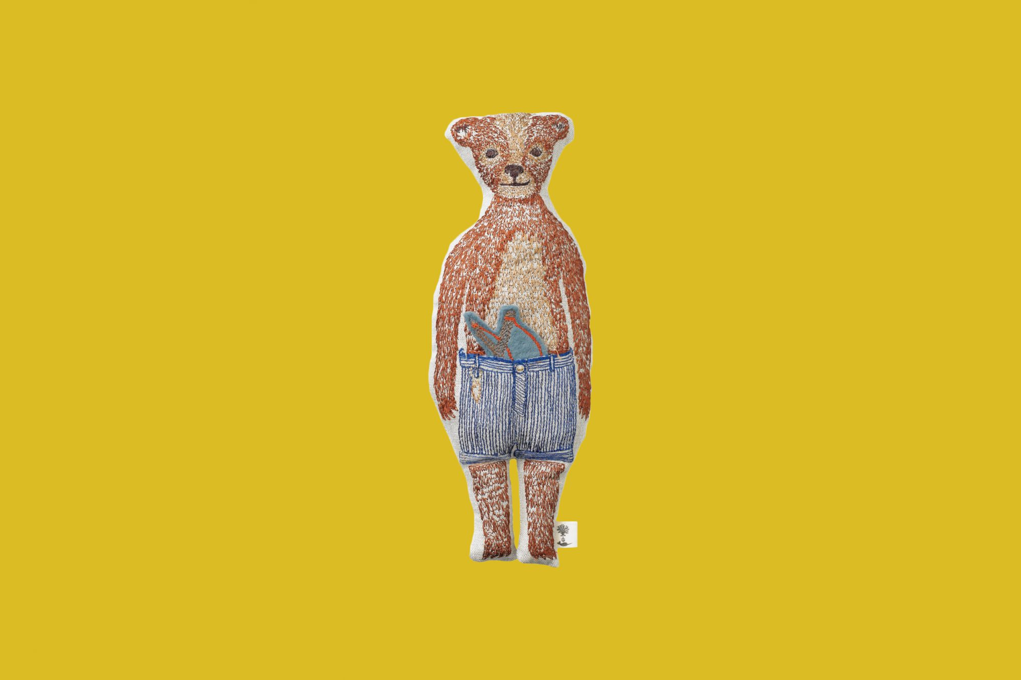 Coral & Tusk Bear Pocket Doll