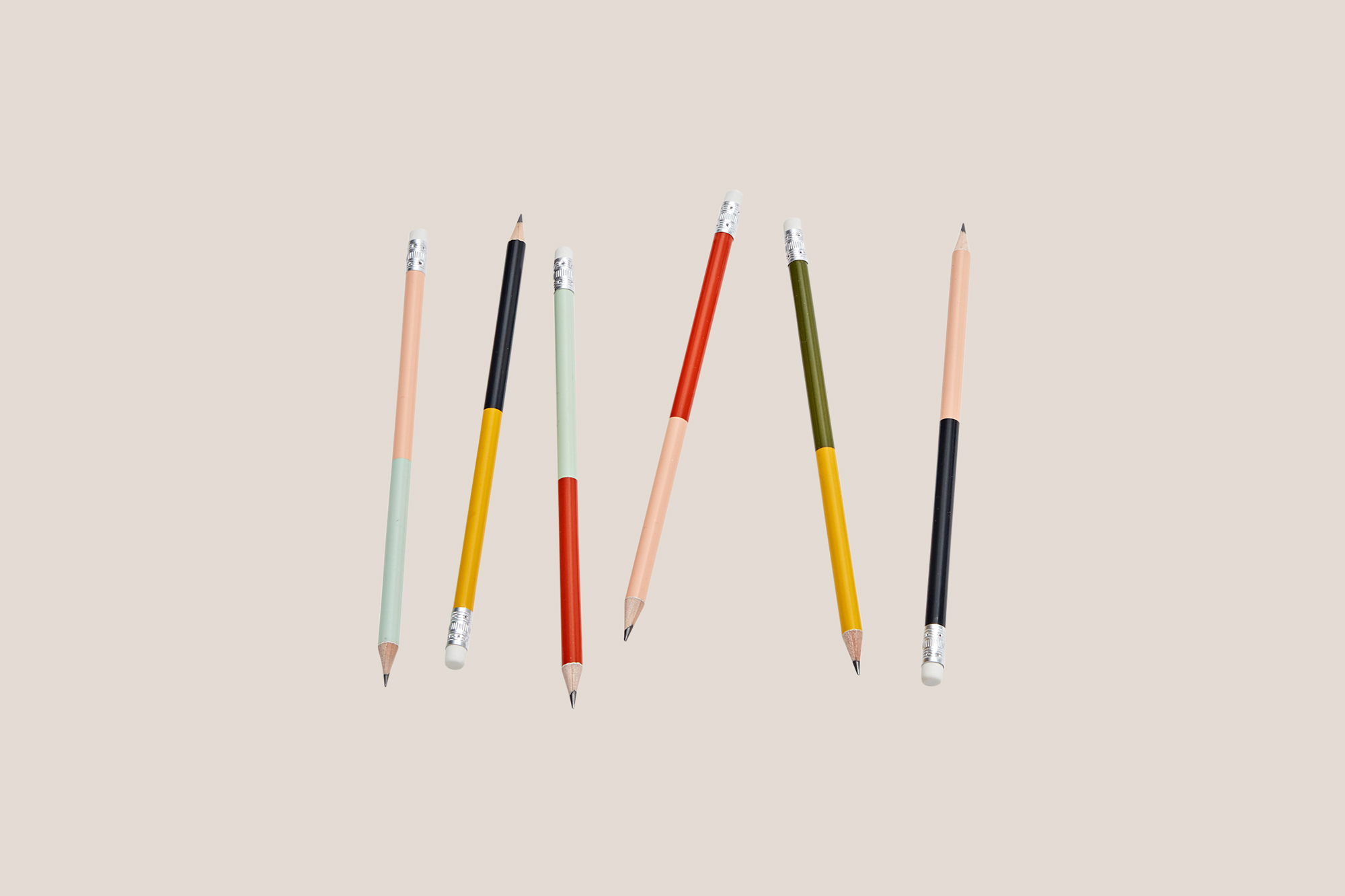assortment of two-toned pencils