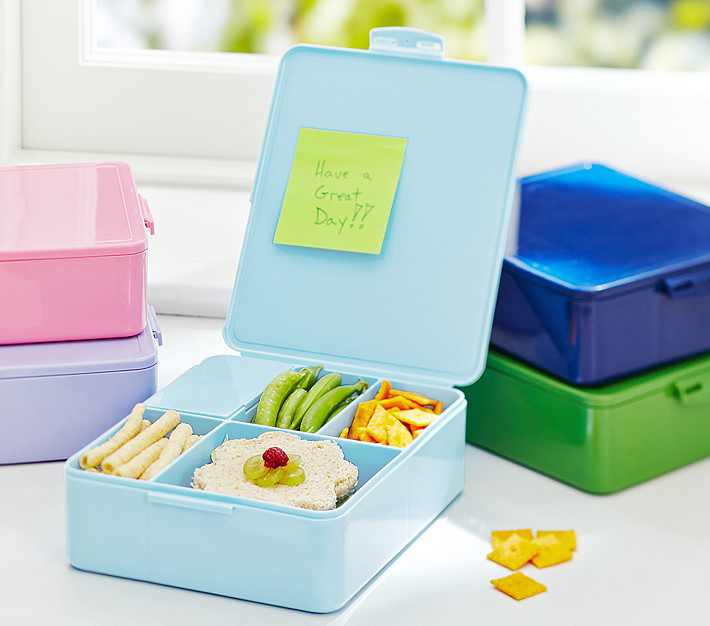 "Pottery Barn Kids ""Spencer"" Bento Box in Aqua"