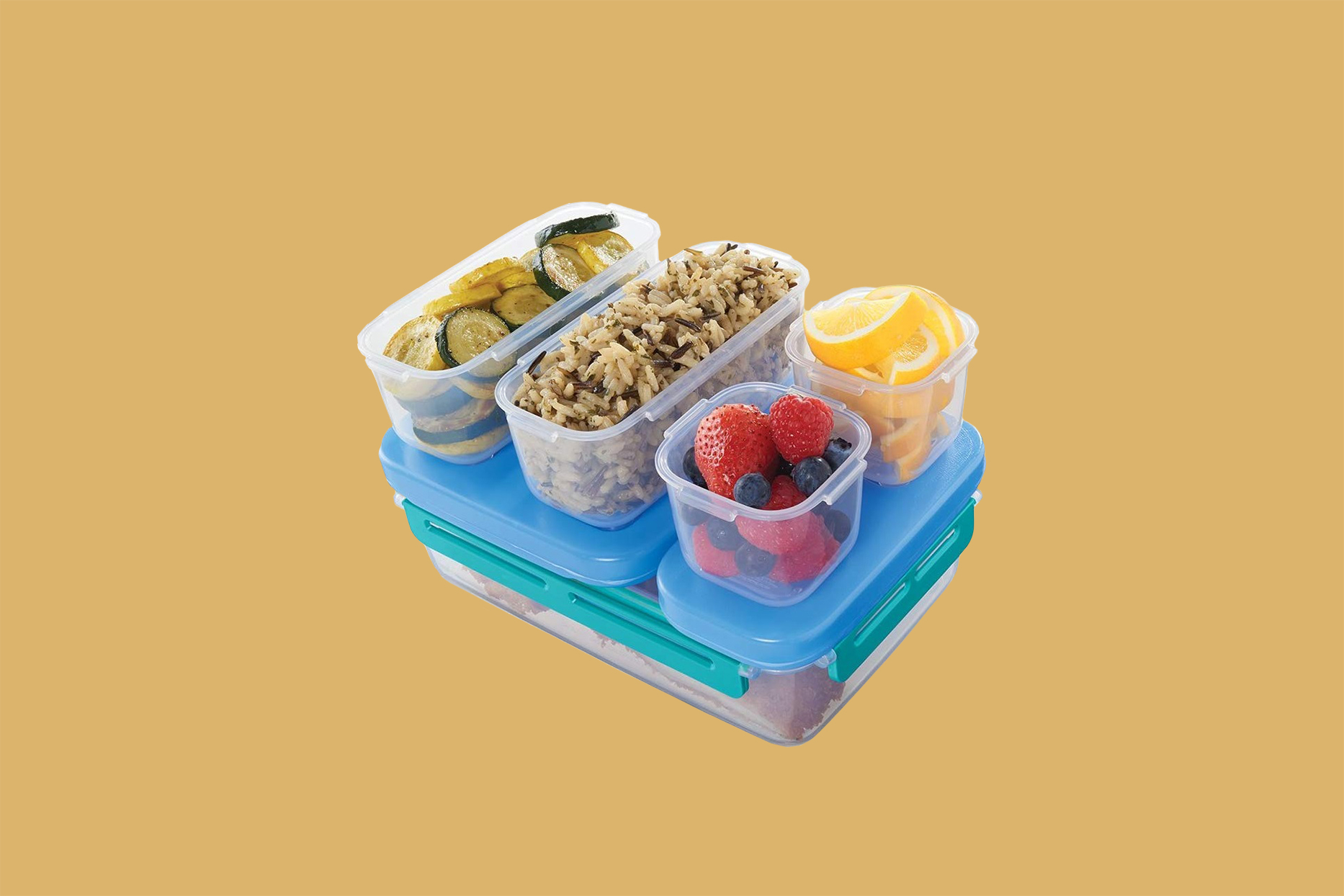 "Rubbermaid ""LunchBlox"" Leak-Proof Entrée Lunch Container Kit"