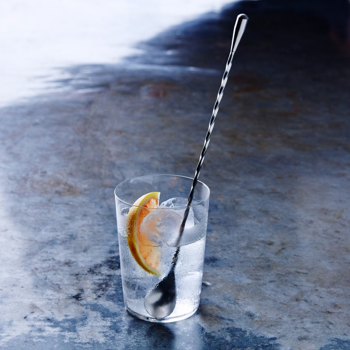 bar spoon in cocktail glass