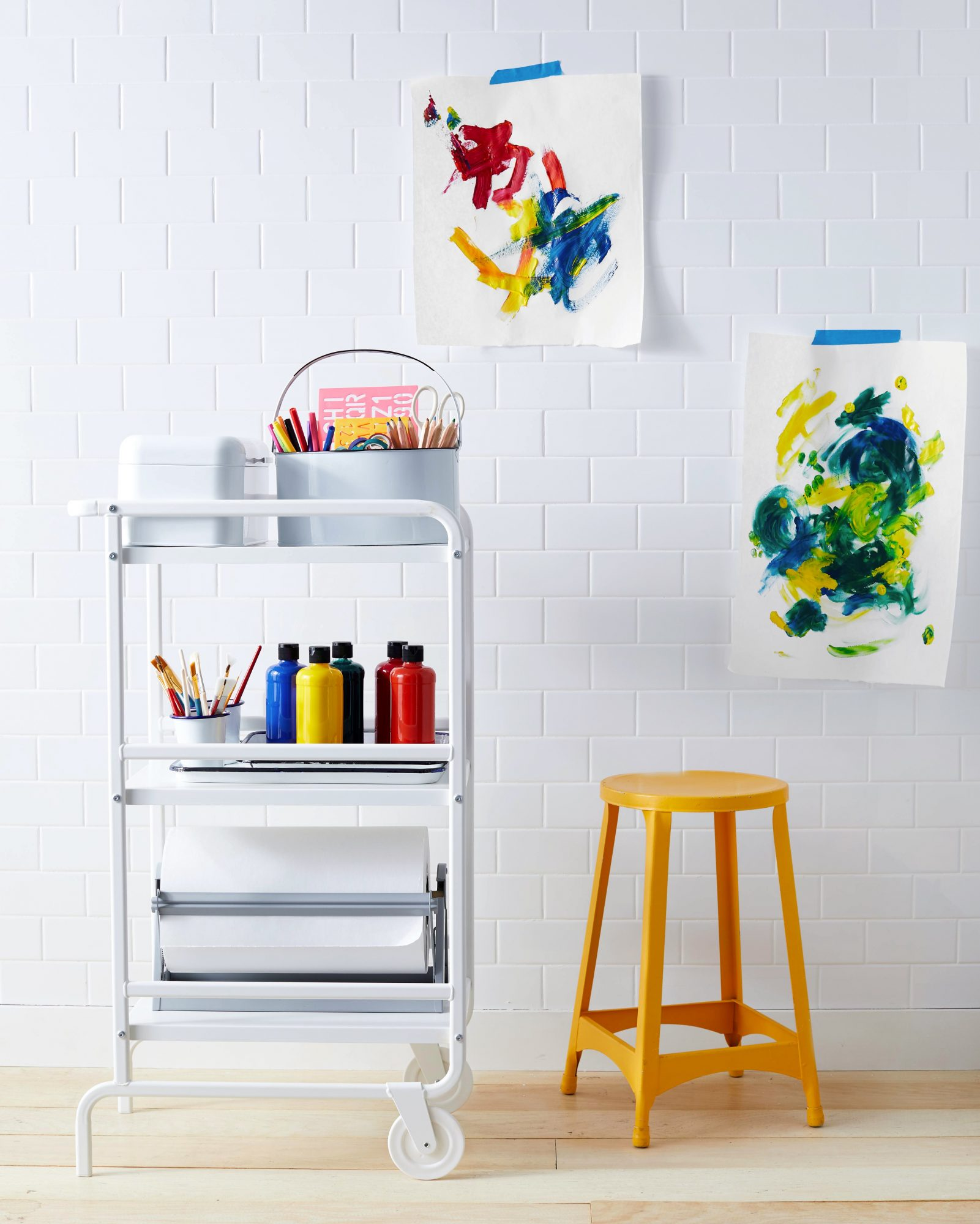arts and crafts cart for kids