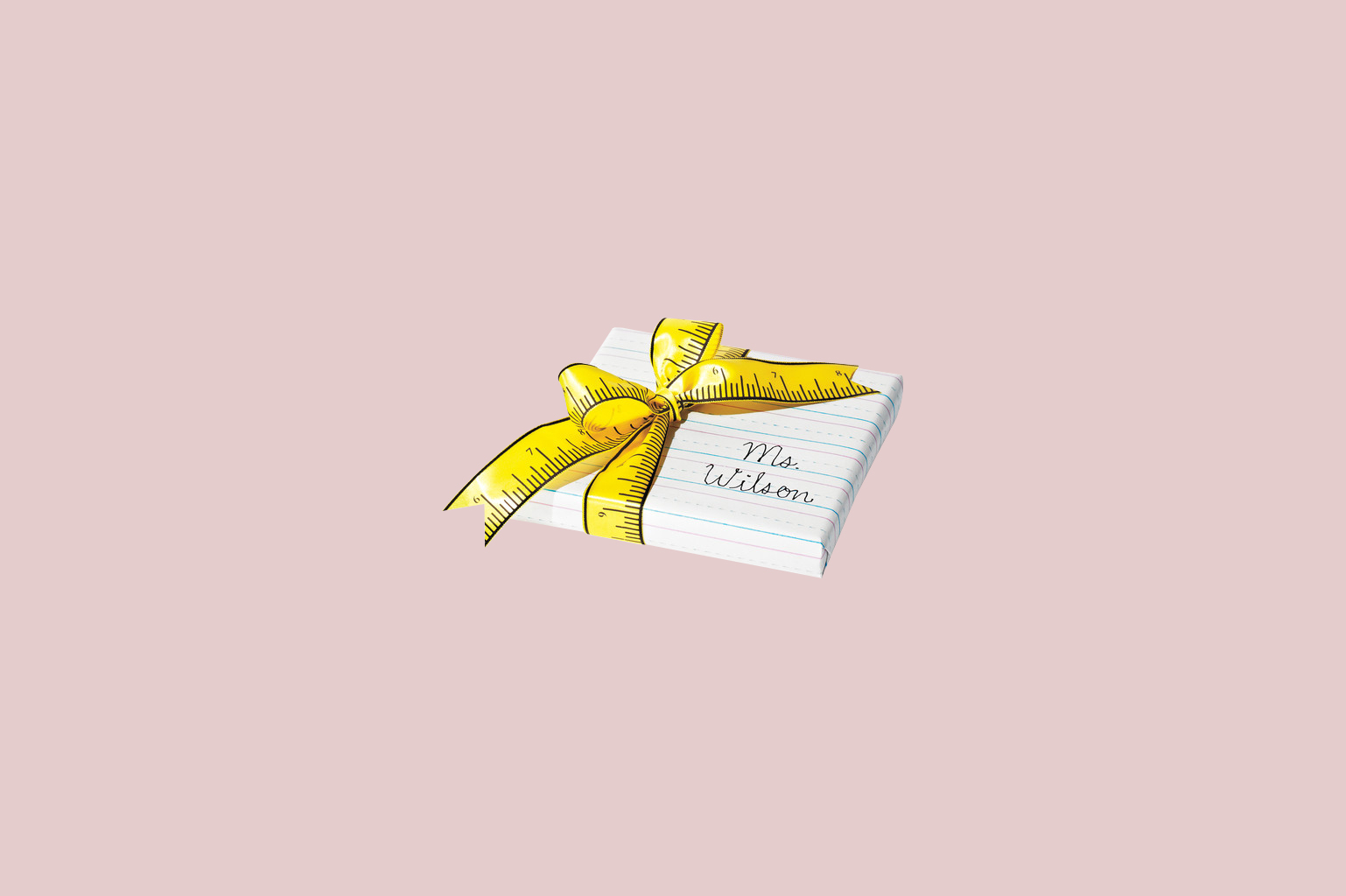 notebook paper designed gift wrapping paper