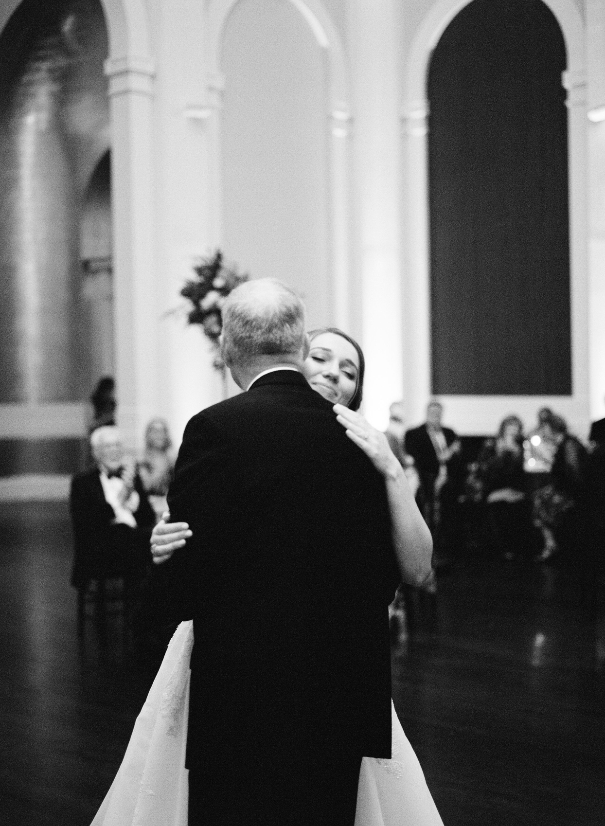 bride and father sharing wedding dance