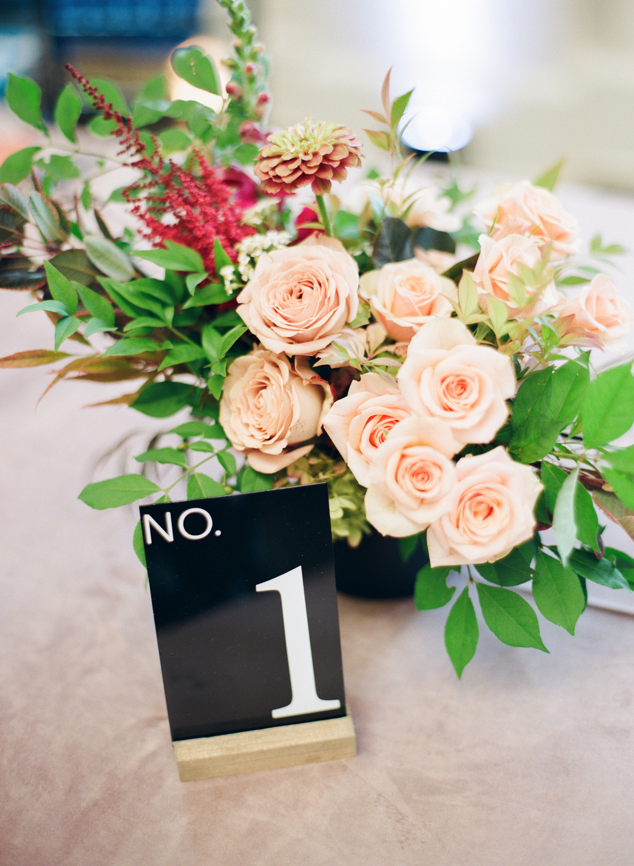 black-and-white table numbers