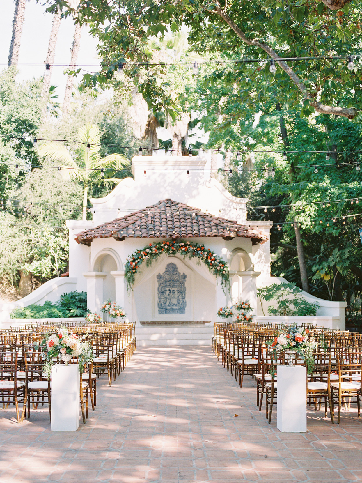 open-air theater wedding ceremony space