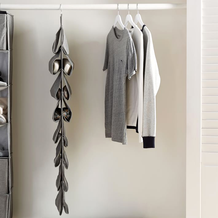 pottery barn teen hanging closet shoe storage