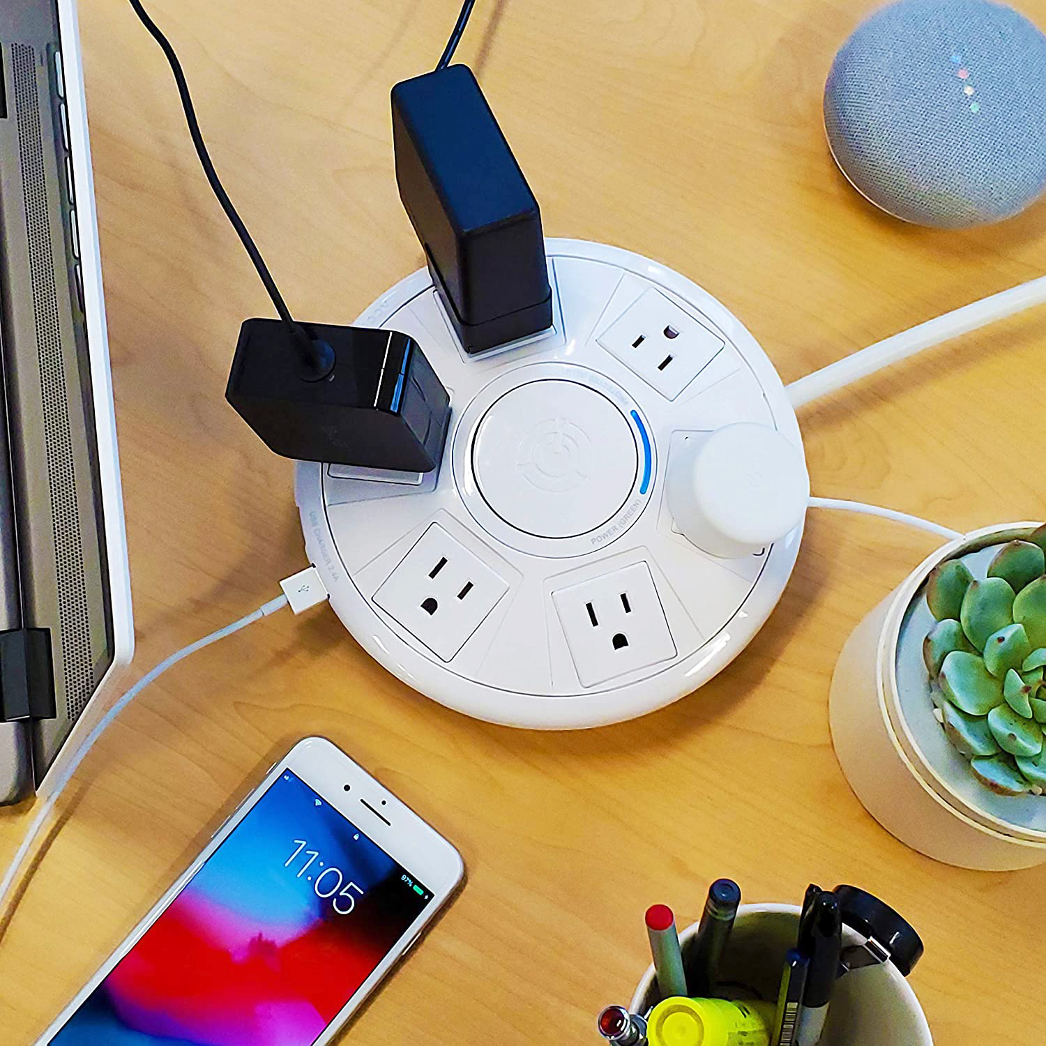 accell power air surge protector and usb charging station