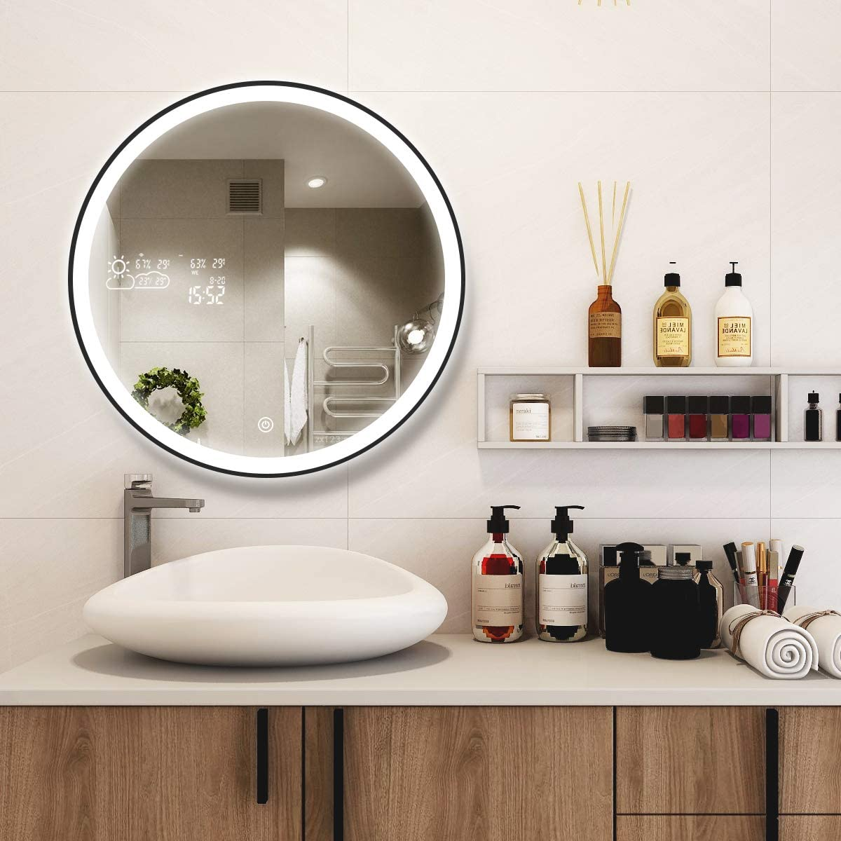 BYECOLD Vanity Lighted Makeup Mirror in Black