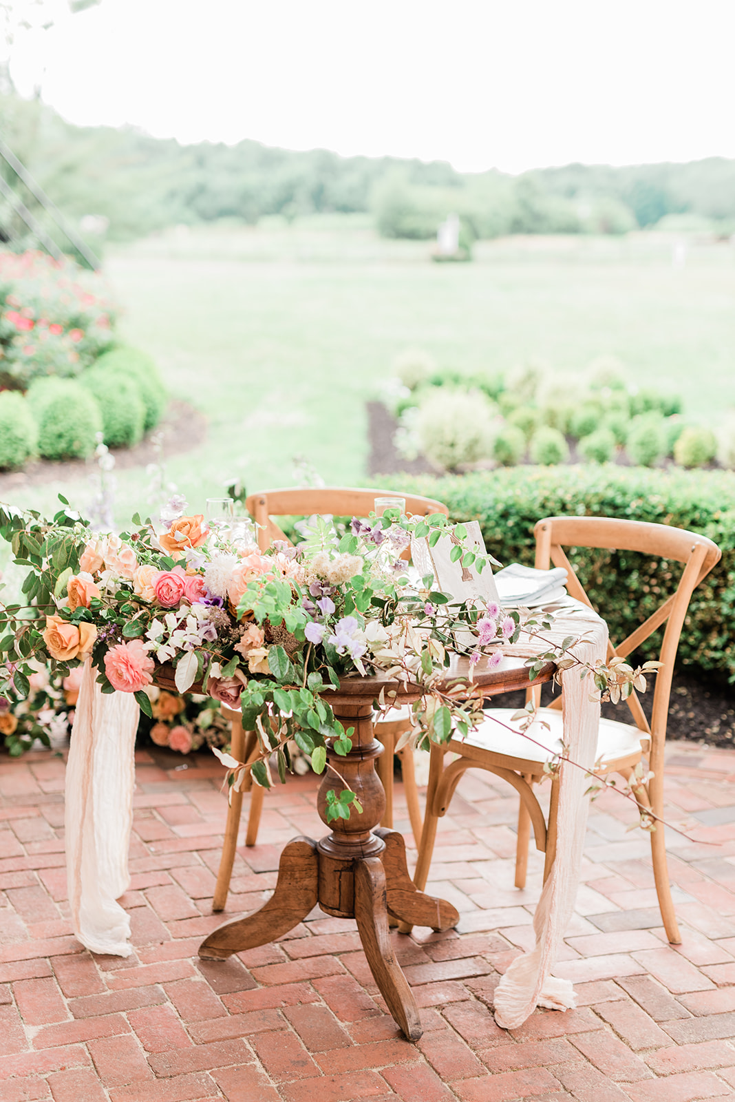 Social Distance Wedding Sweetheart Table