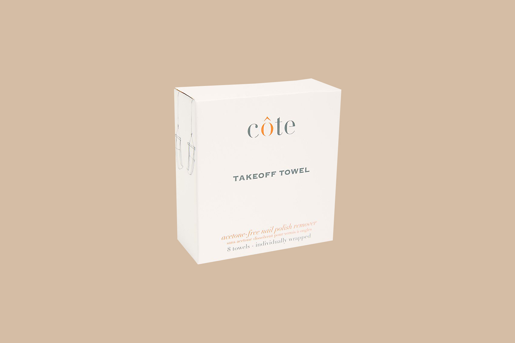 """Côte """"TakeOff Towels"""" Polish Remover"""