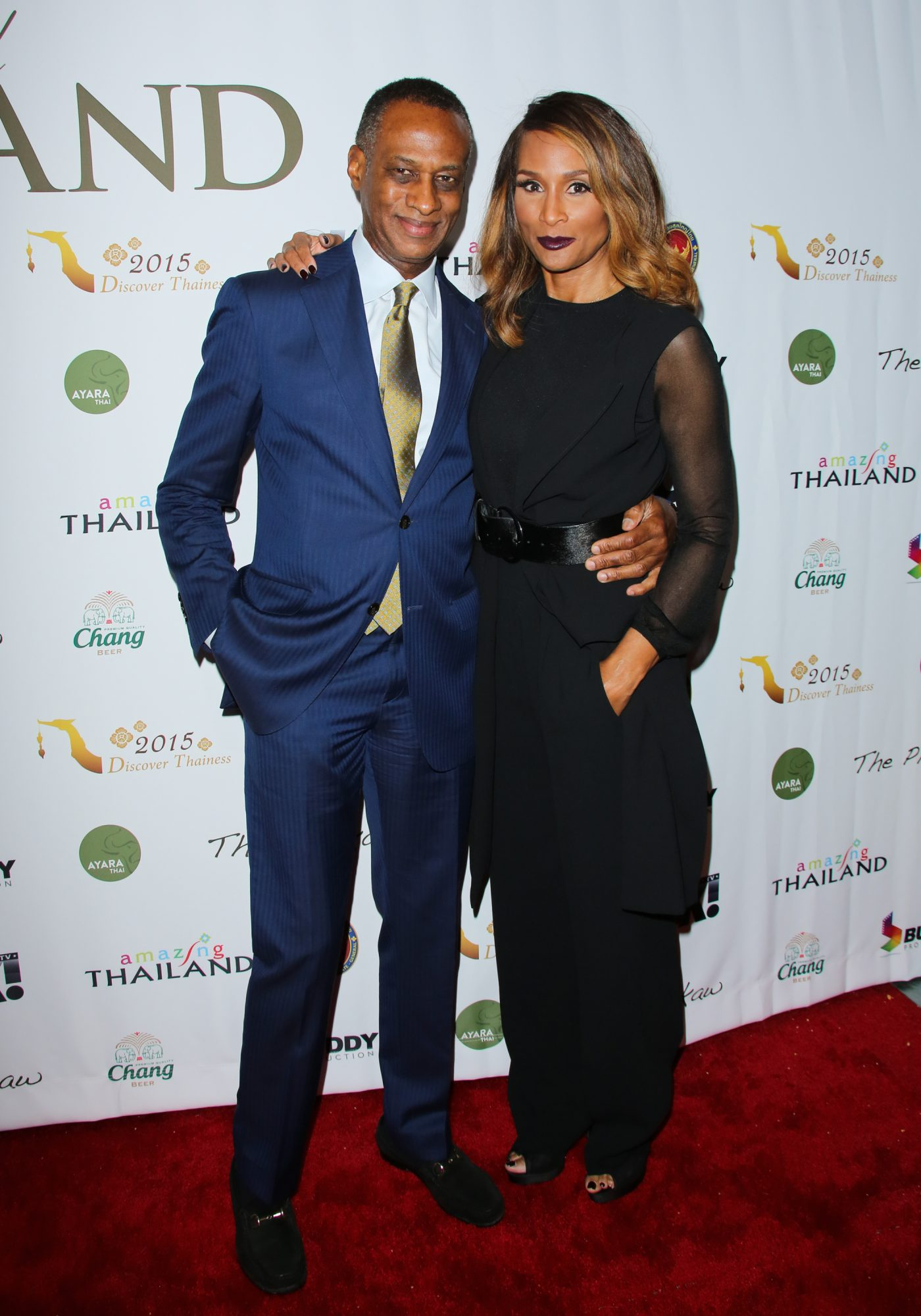 "Beverly Johnson and Brian Maillian on the red carpet for The Tourism Authority Of Thailand ""Threads Of Thailand"""