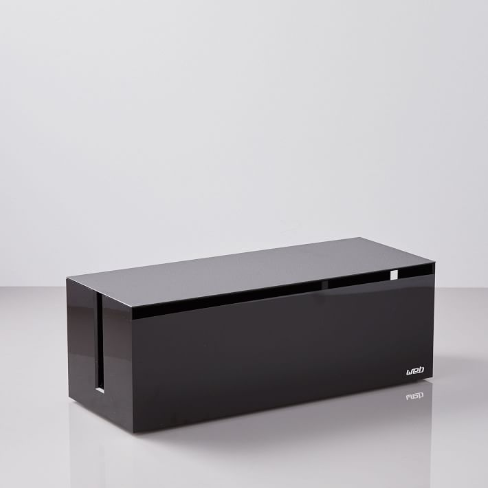 West Elm Cable Box in Black