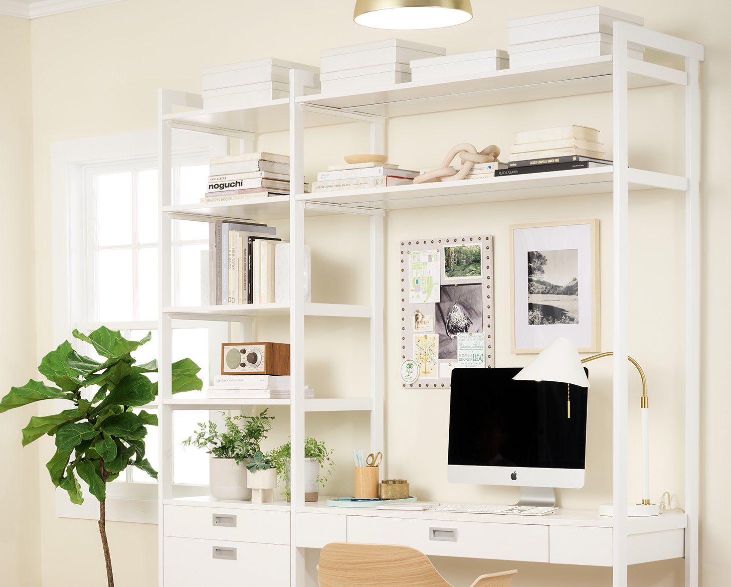 """California Closets """"Everyday System 4 Foot"""" Home Office"""