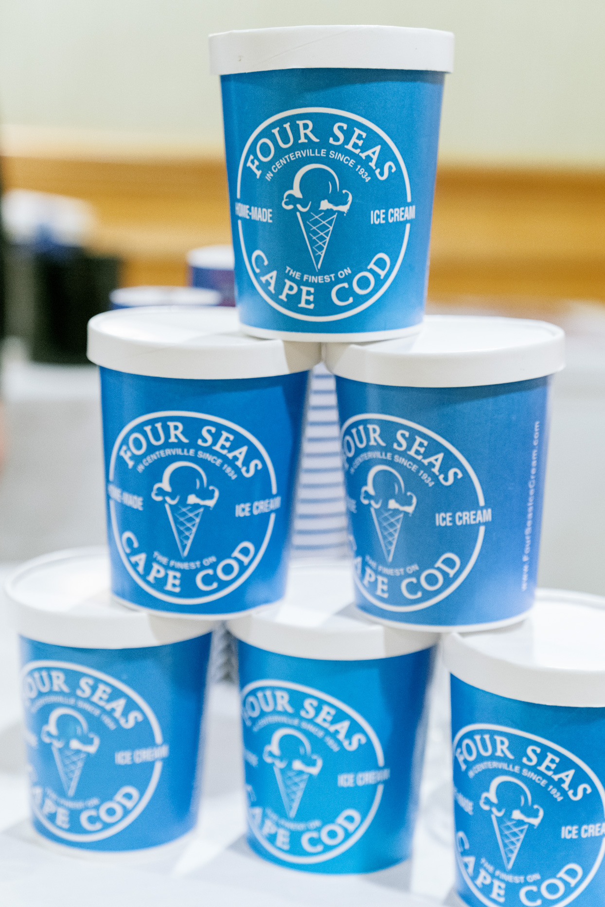 four seas cape cod ice cream in blue cartons