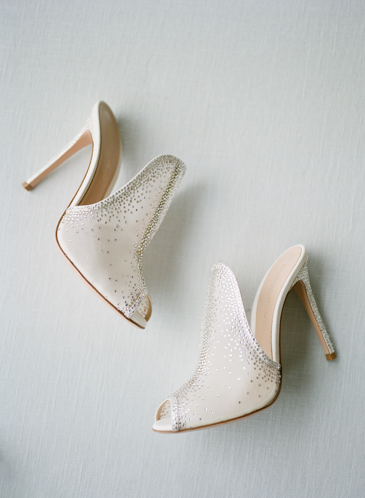 bride's jeweled wedding heels