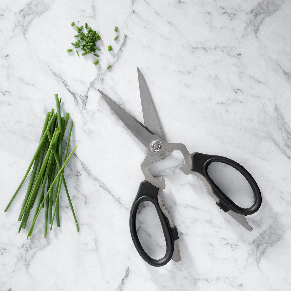 kitchen shears and chives
