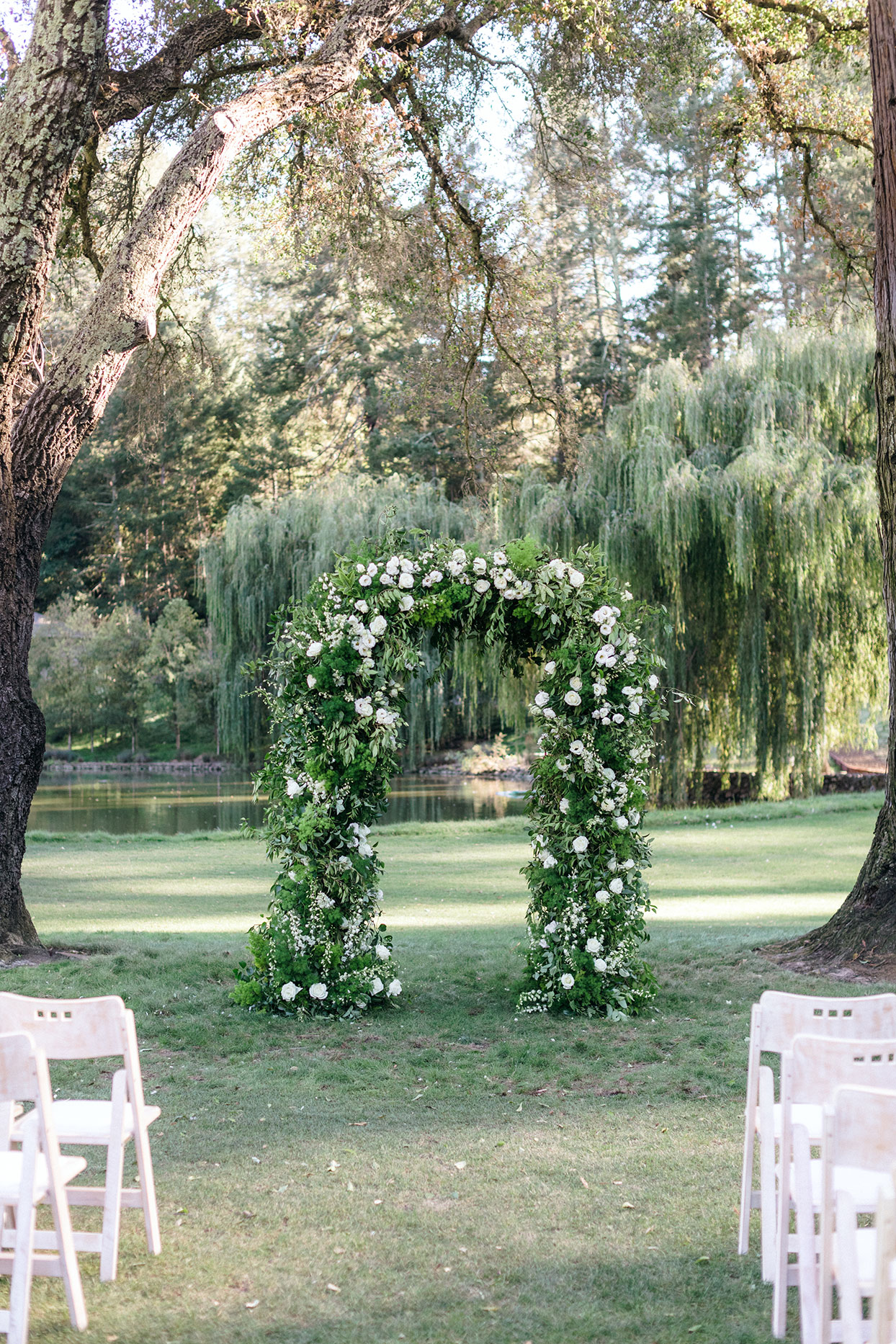A floral arch for wedding ceremony