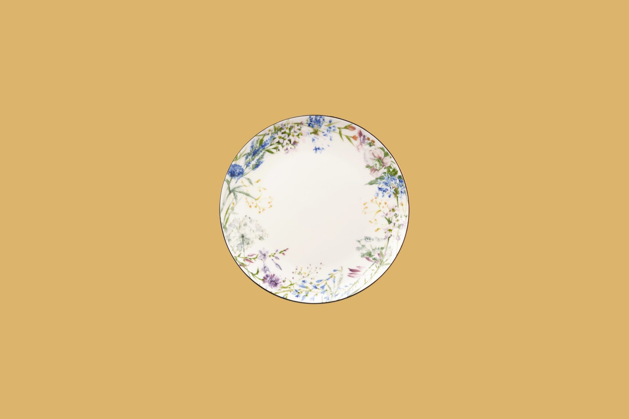 Williams-Sonoma Floral Meadow Wreath Dinner Plate