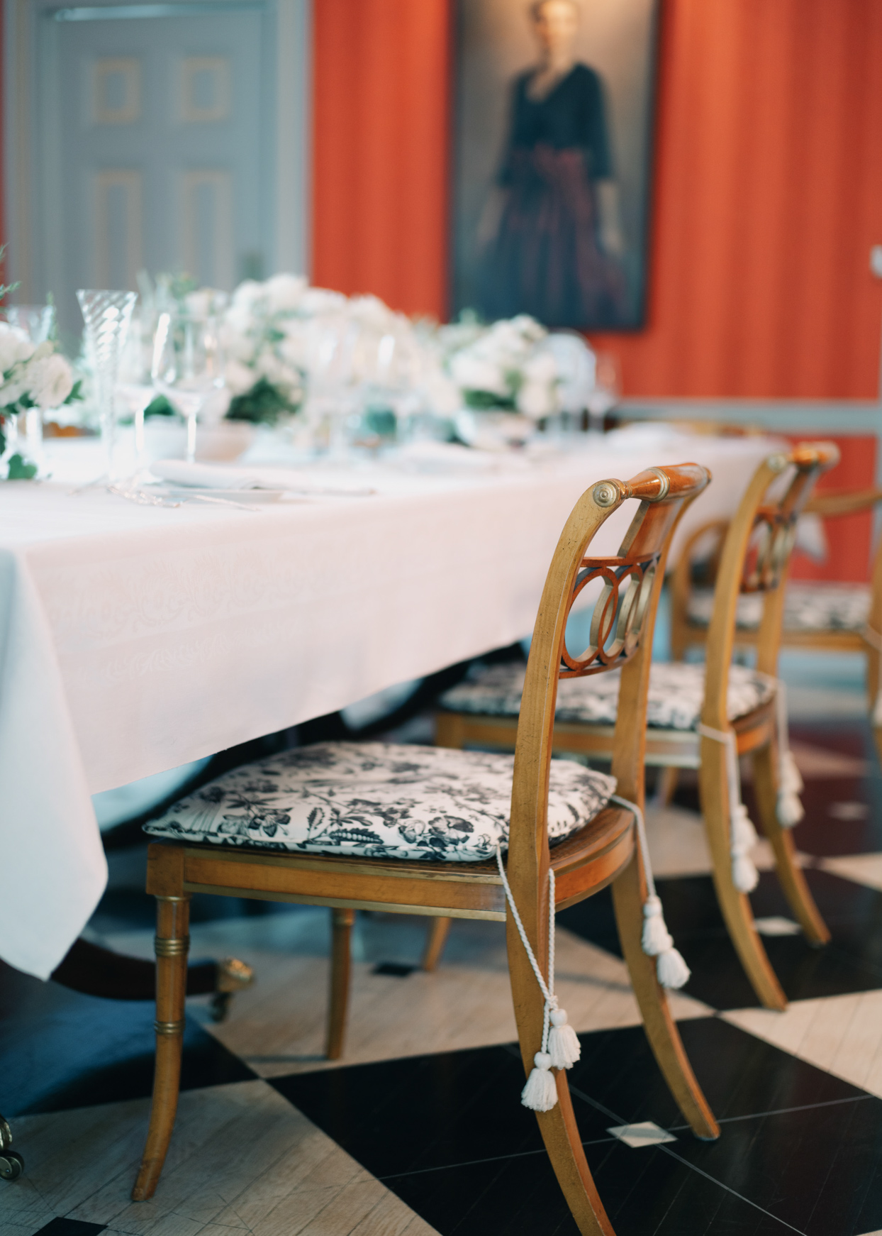 elegant table set up for wedding luncheon