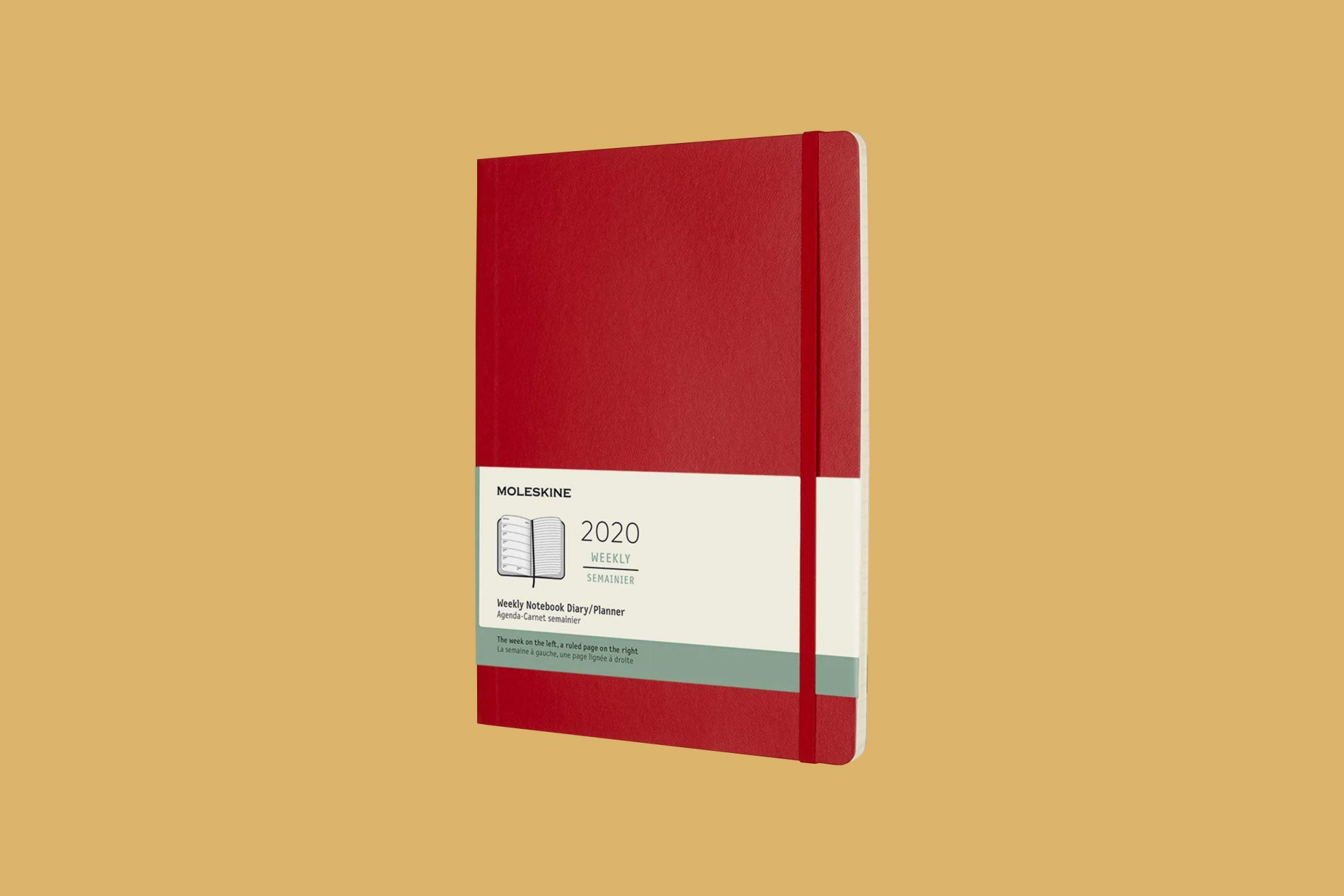 Moleskin Classic 12 Month Weekly Planner in Scarlet Red