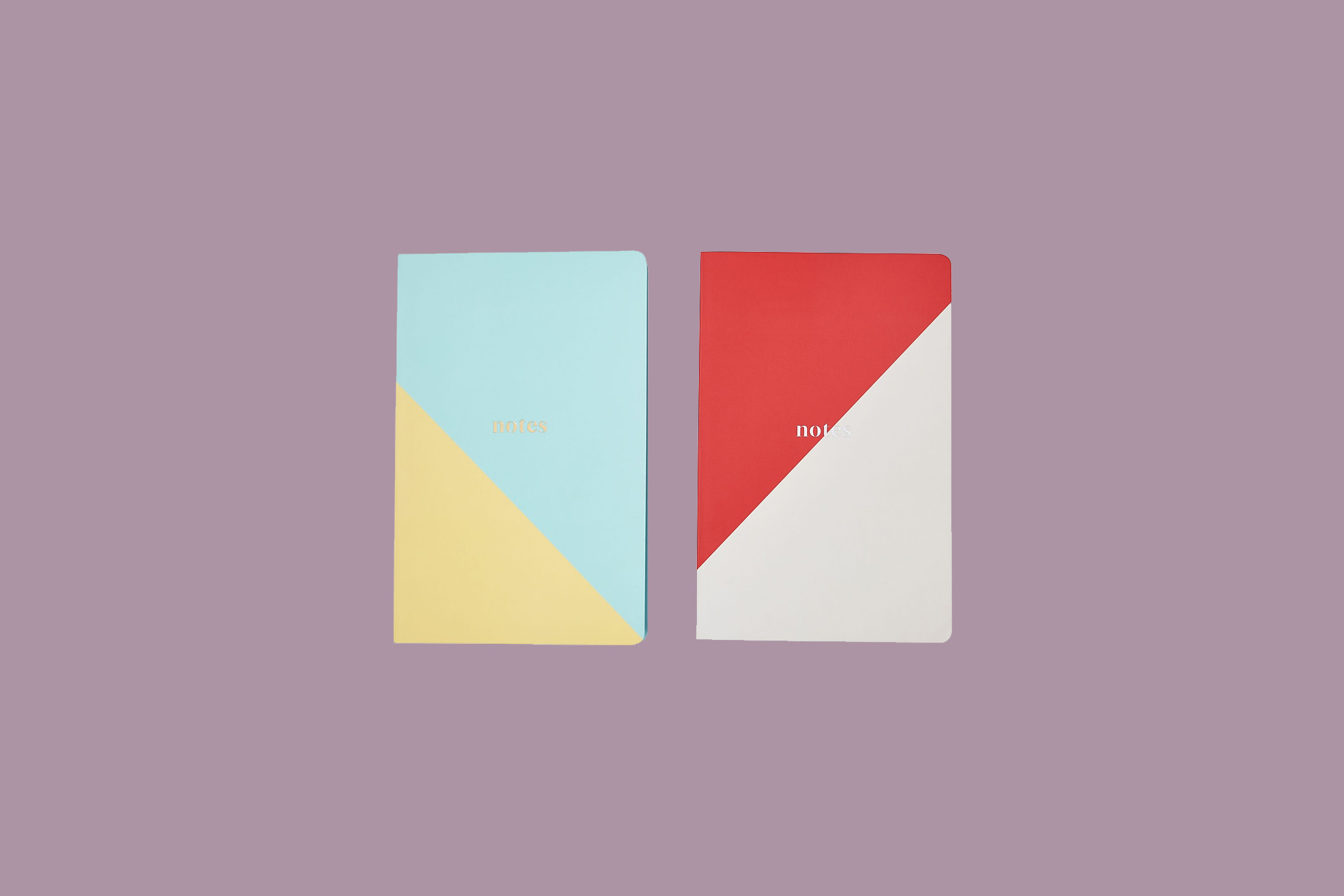two-toned colorful notebooks