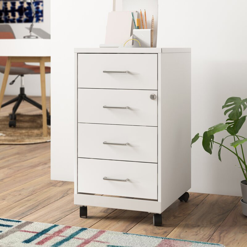 white rolling filing cabinet