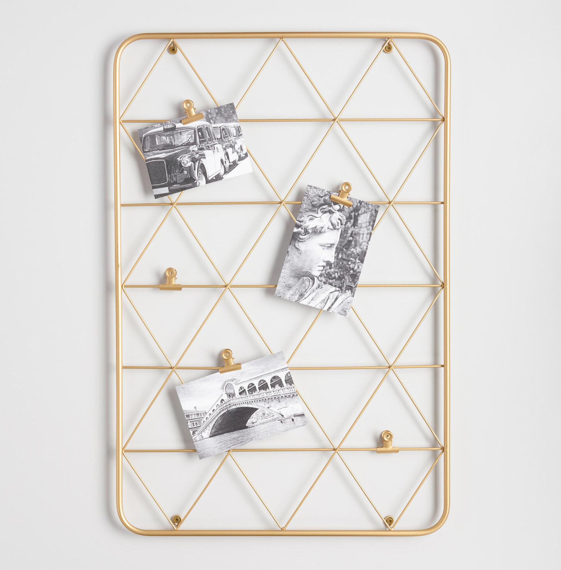 gold photo clip wire frame