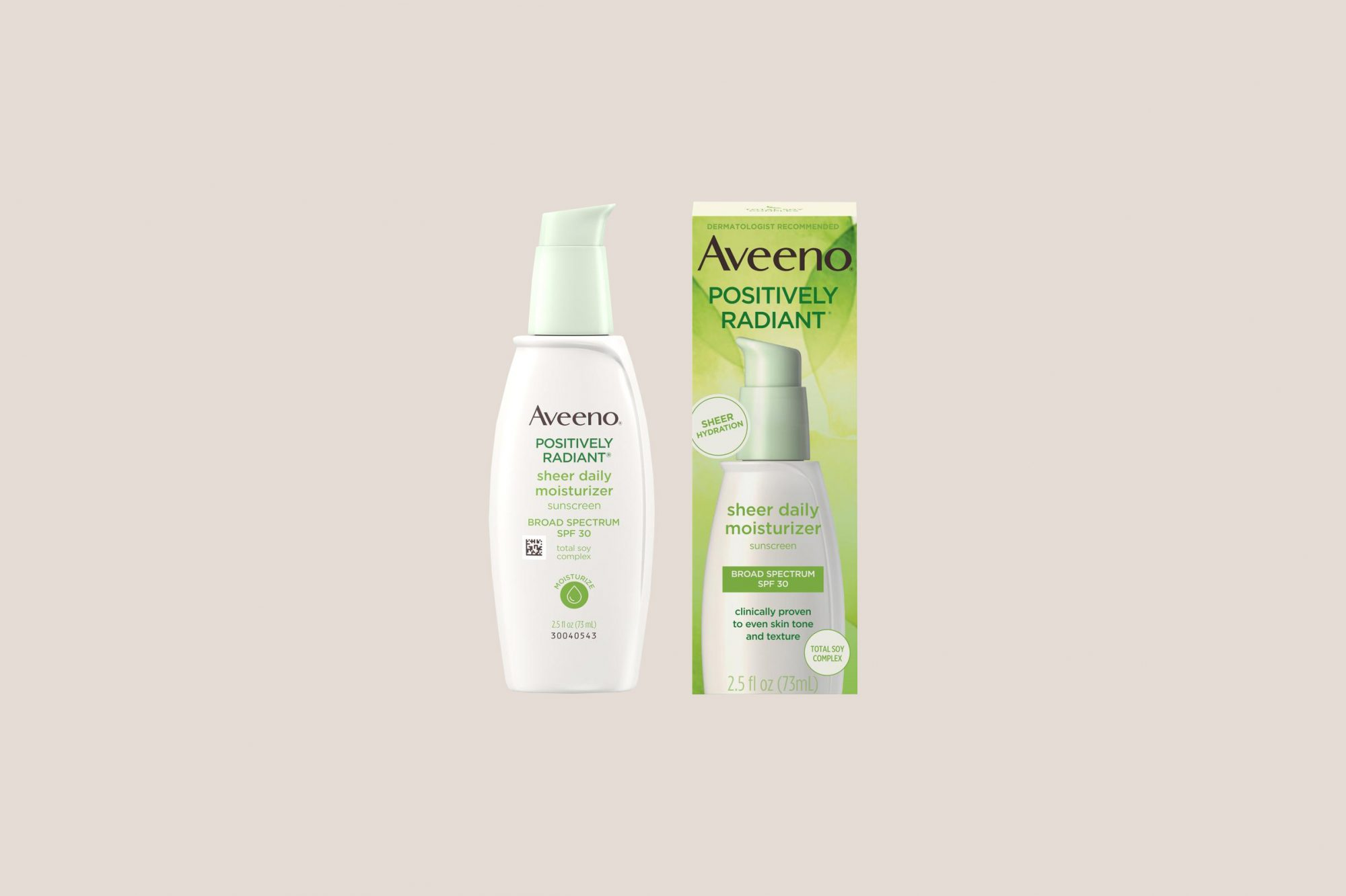 Aveeno Positively Radiant Sheer Daily Face Moisturizer with SPF 30