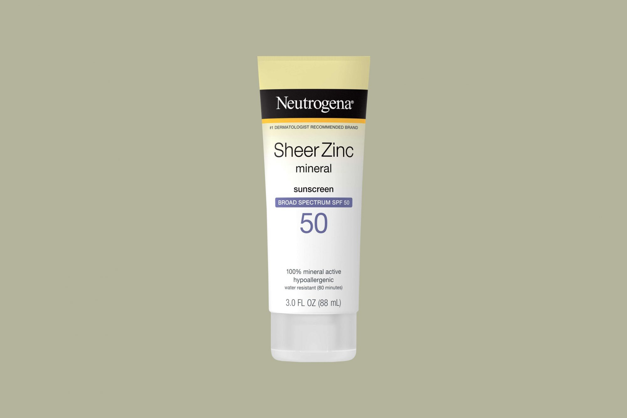 """Neutrogena """"Sheer Zinc Dry-Touch"""" Sunscreen Lotion with SPF 50"""