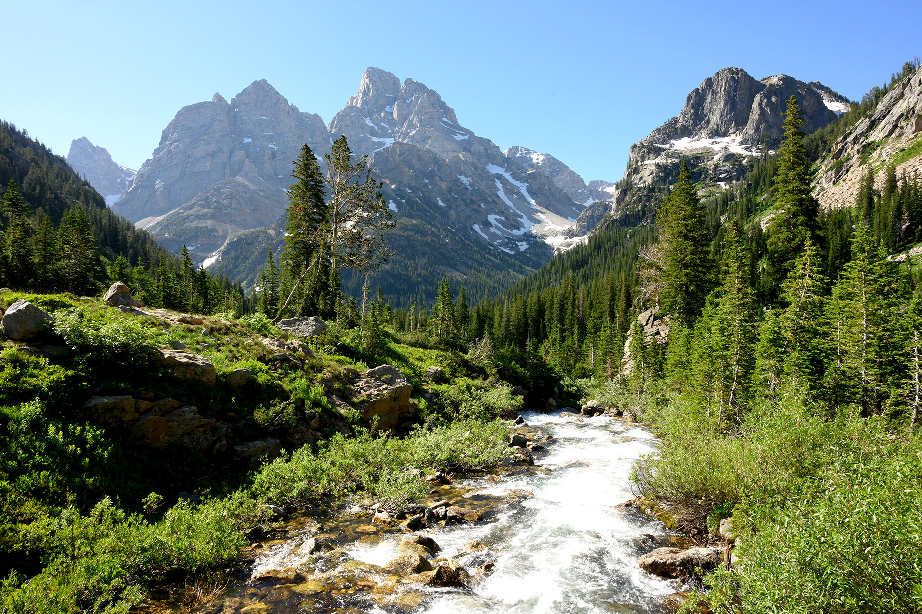Cascade Canyon Trail in Wyoming