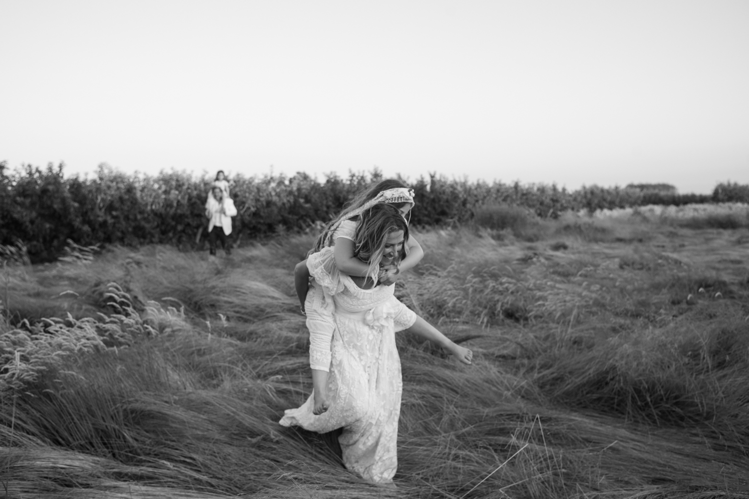 Couple with Kids in Field