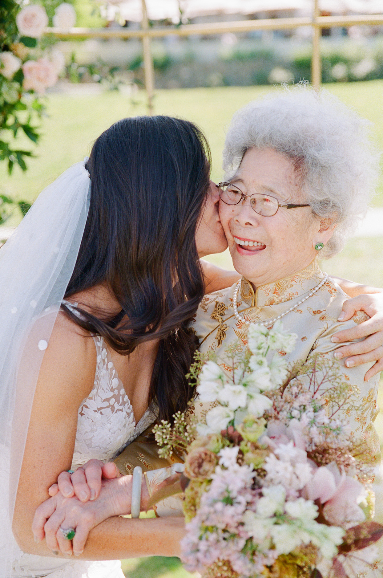Bride with grandmother