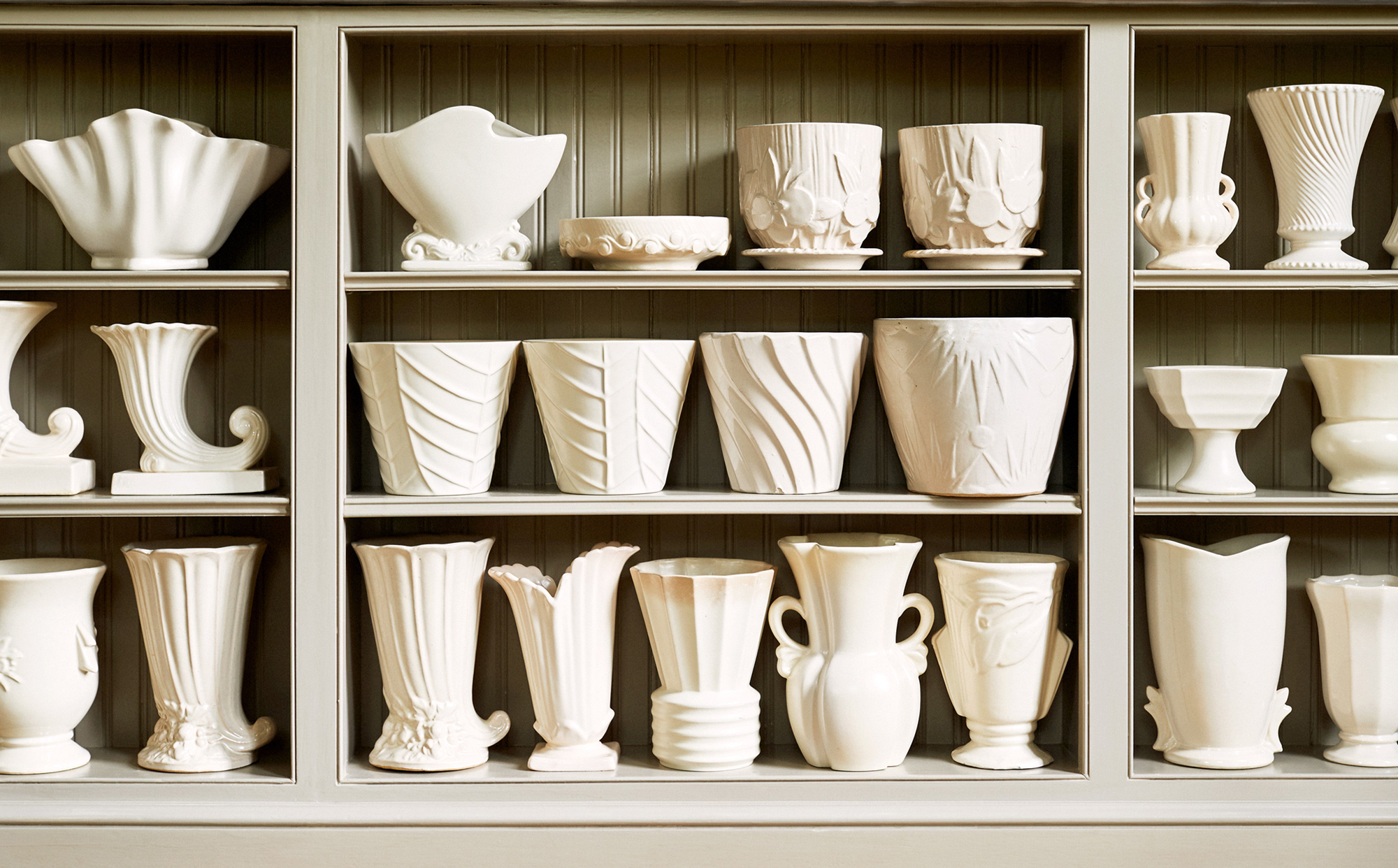 white McCoy pottery