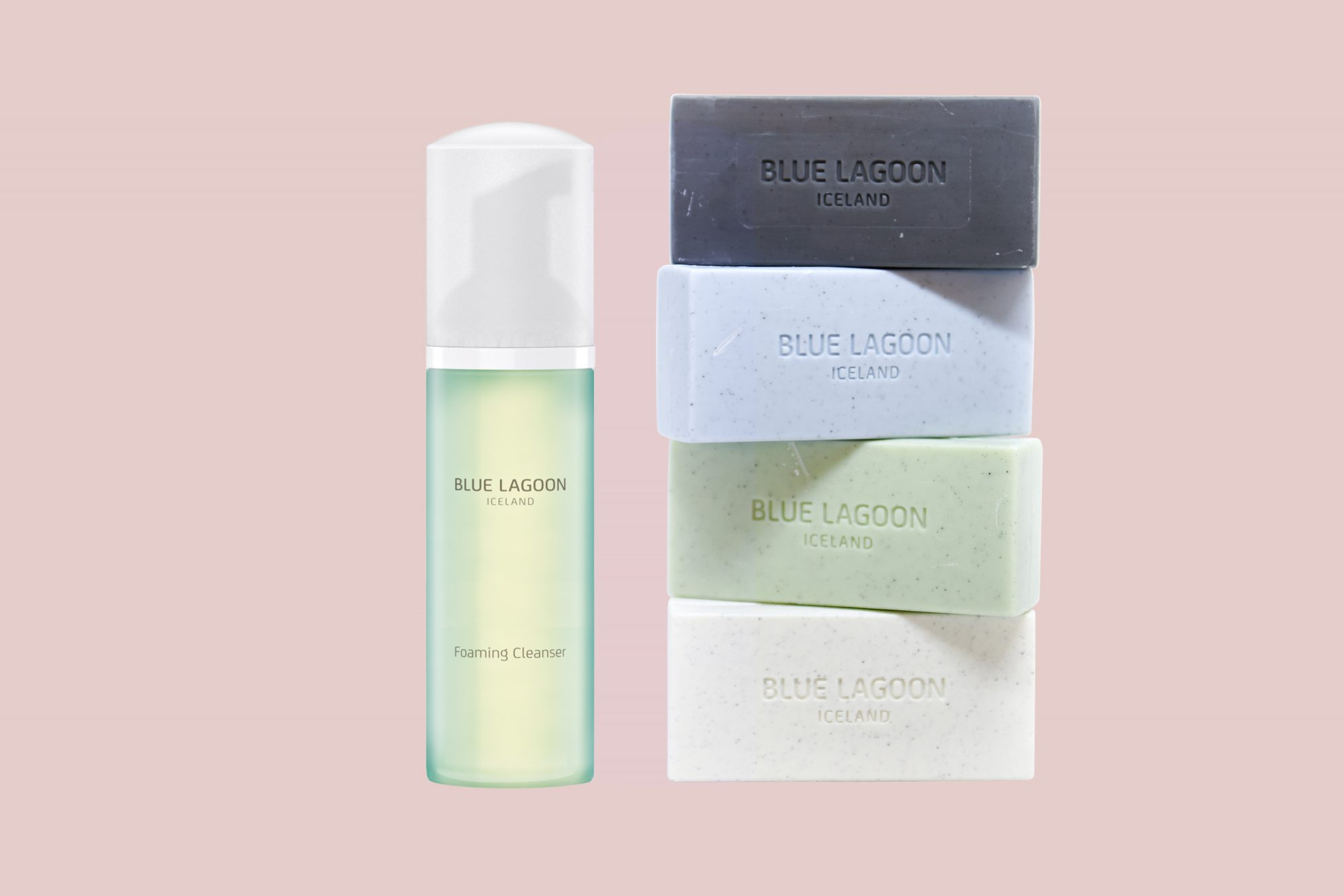 blue lagoon iceland foaming cleanser and lava soap bars