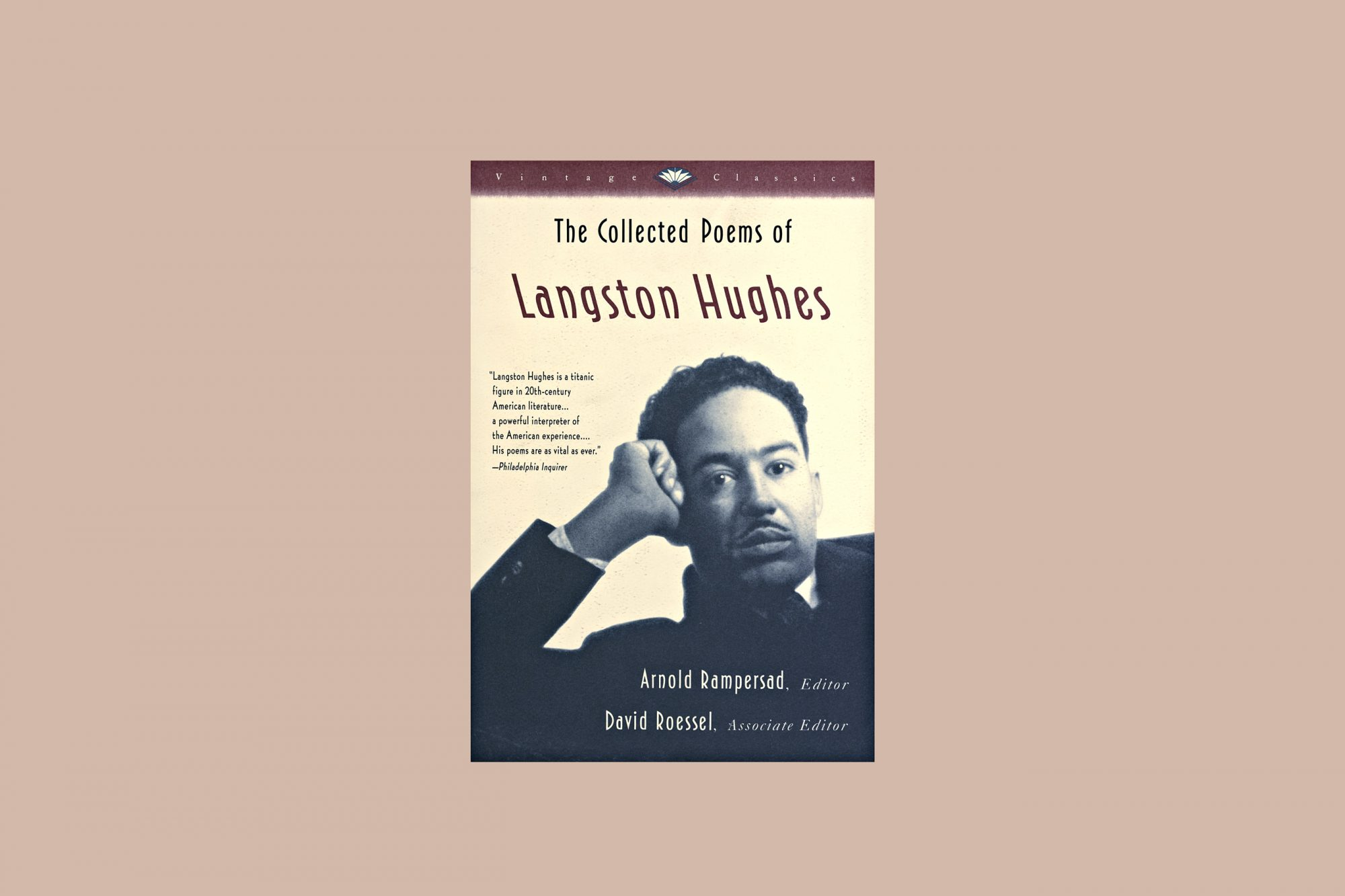 the collected poems of langston hughes vintage classics book cover