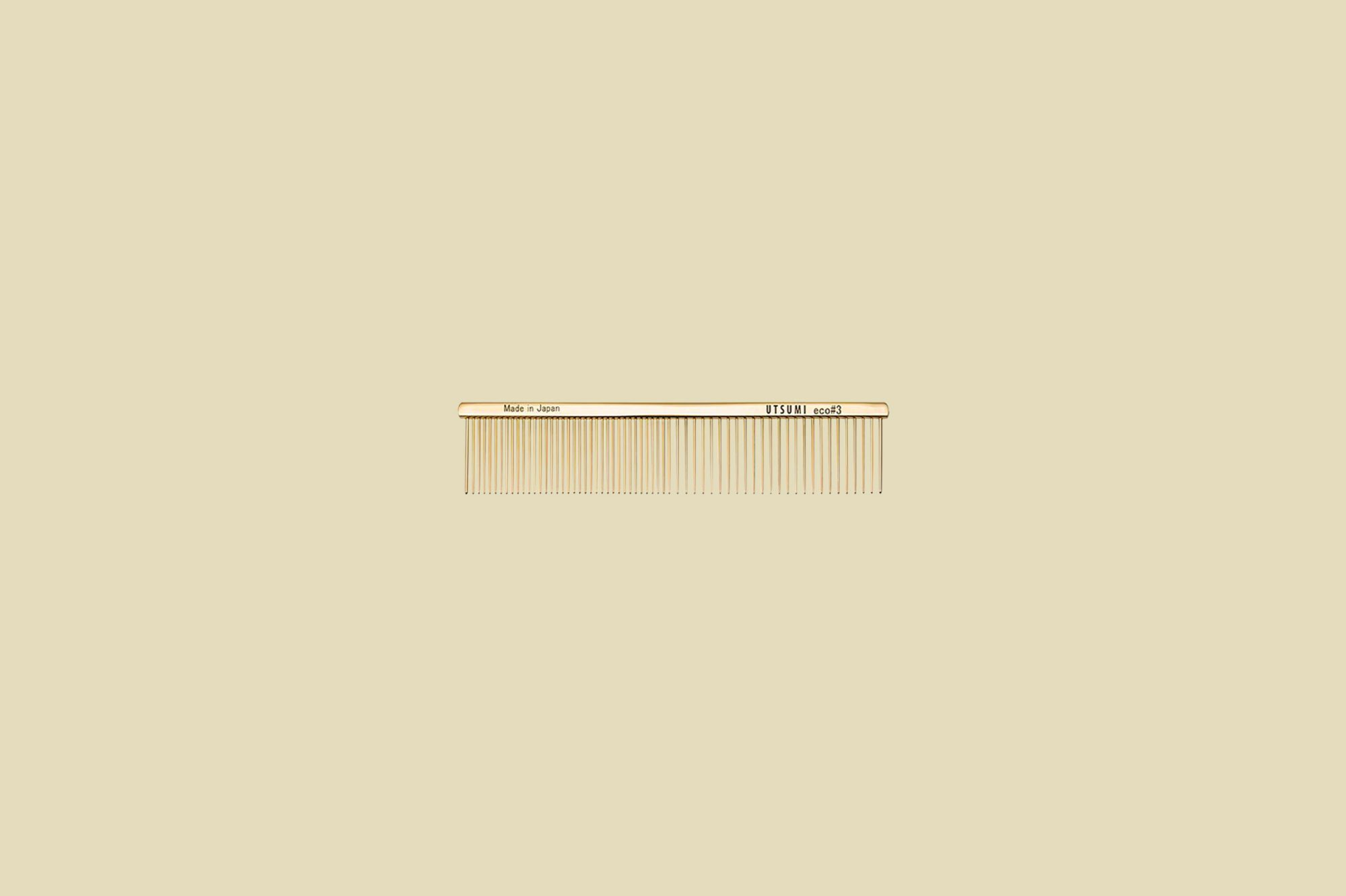 Utsumi Eco #3 Comb in Gold