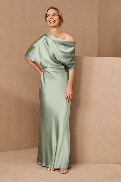 amsale pryce dress in jade