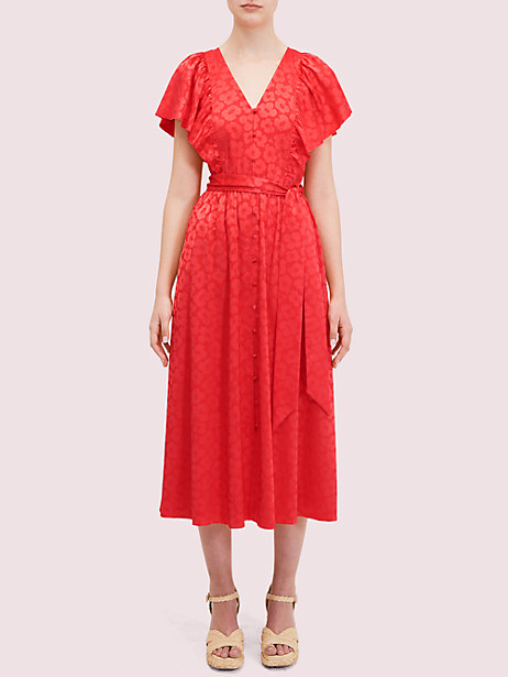 kate spade poppy field jacquard dress