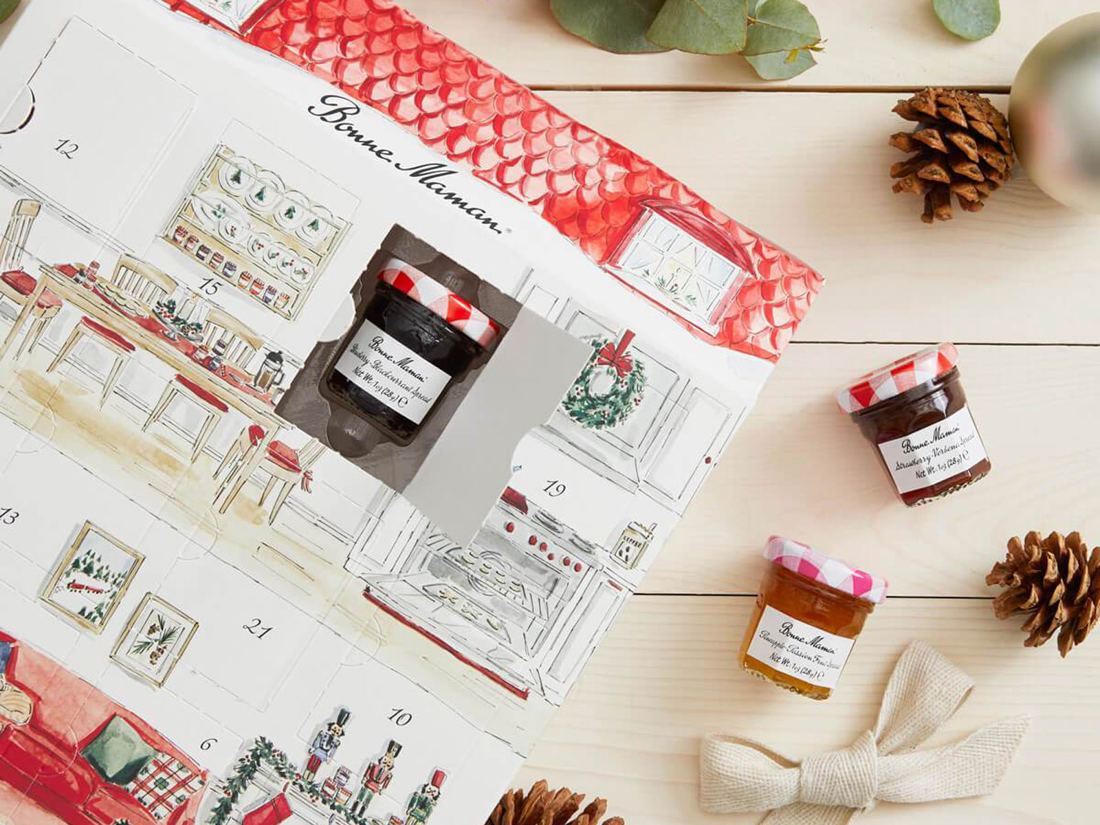 Bonne Maman jam and honey advent calendar