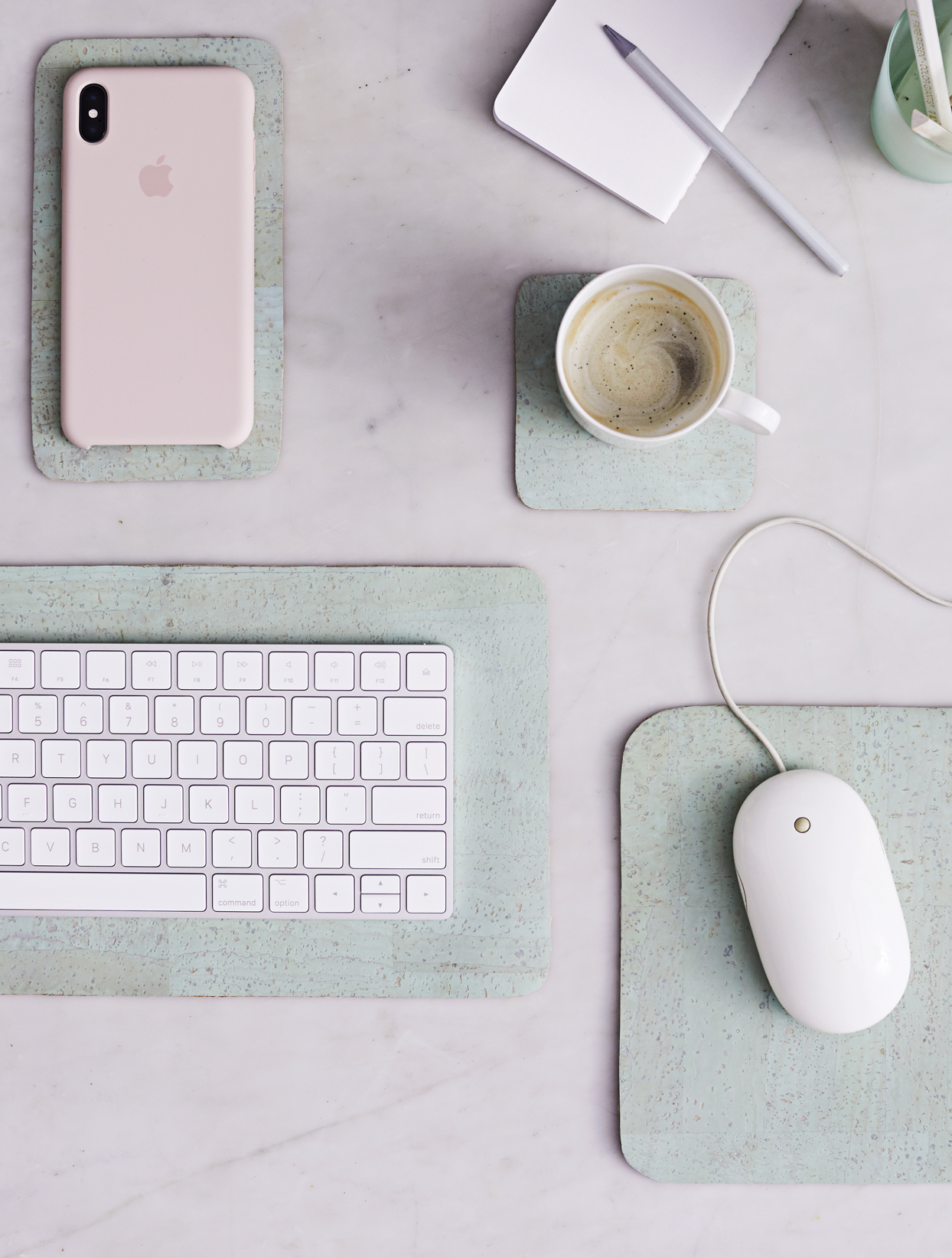 diy desk blotters for office space
