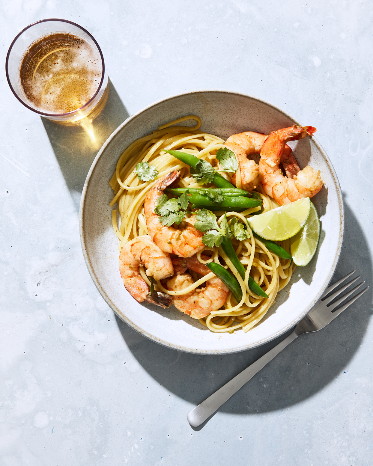 Thai Curry Shrimp Linguine