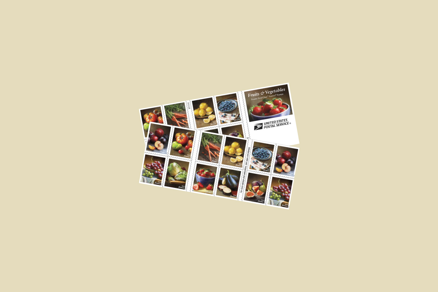 usps fruits and vegetable stamps